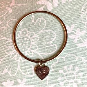 Michael Kors heart charm bangle bracelet